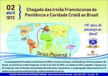 146 anos de presença das Irmãs no Brasil