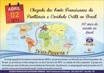 Irmãs Franciscanas da PCC - 147 anos no Brasil