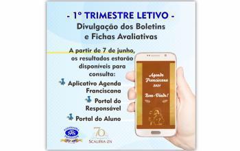 Boletins e Fichas Avaliativas do 1º trimestre letivo