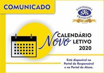 Novo Calendário Letivo 2020