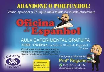 Espanhol - aula experimental gratuita