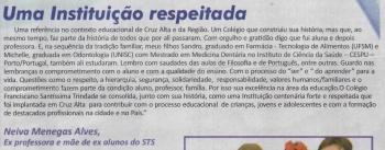 Colégio recebeu homenagem no Jornal Diário