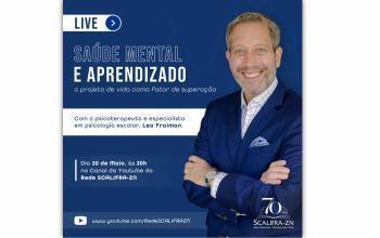 Saúde Mental e Aprendizado é tema de live para a Rede SCALIFRA-ZN