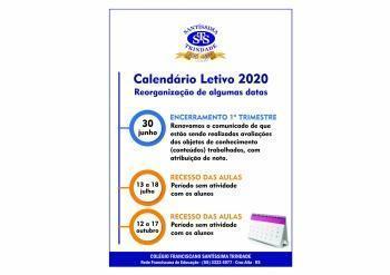 Datas do Calendário Letivo reorganizadas