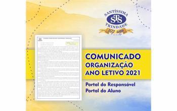 COMUNICADO: organização para o Ano Letivo