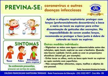 Coronavírus - previna-se com medidas comportamentais