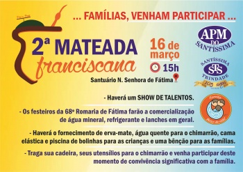 Participe da 2ª Mateada Franciscana