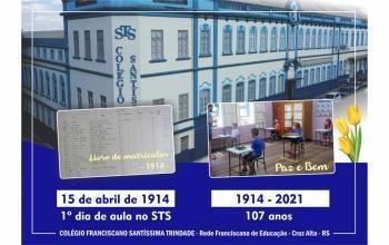 Há 107 anos aconteceu o 1º dia de aula no Santíssima !