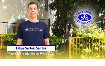 Depoimento do aluno Filipe Sartori Santos