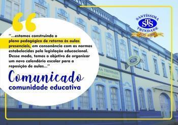 Comunicado para a comunidade educativa