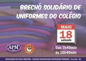 Brechó solidário de uniformes STS