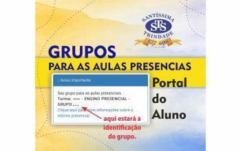 Publicados grupos para as aulas presenciais