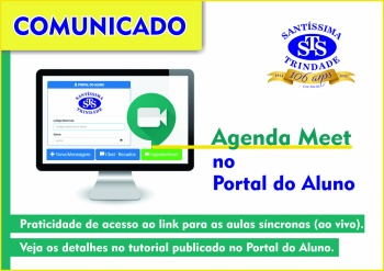Agenda Meet no Portal do Aluno