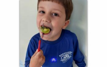 Infantil 4 realiza projeto sobre alimentação saudável