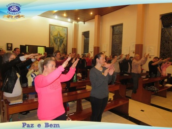 Celebração Eucarística na Capela do Colégio
