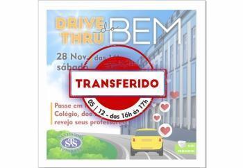Drive Thru do Bem transferido para 05/12