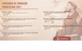 Lançada programação do Itinerário de Formação Franciscana
