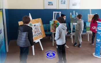 3º ano   Visita ao 1º Salão de Pintura 200 anos em Tela